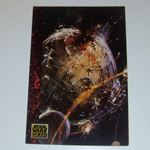 Star Wars Galaxy 1993 Topps #51 The Huge Space Battle Trading card
